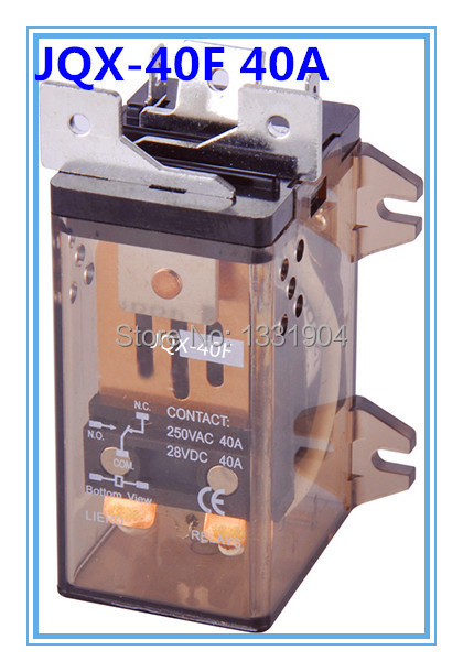 цена на 1 PC JQX-40F 2Z 40A DPDT DC AC 12V/24V/110V/220V Coil Electromagnetic Power Relay, large power relay. Silver Alloy Contact