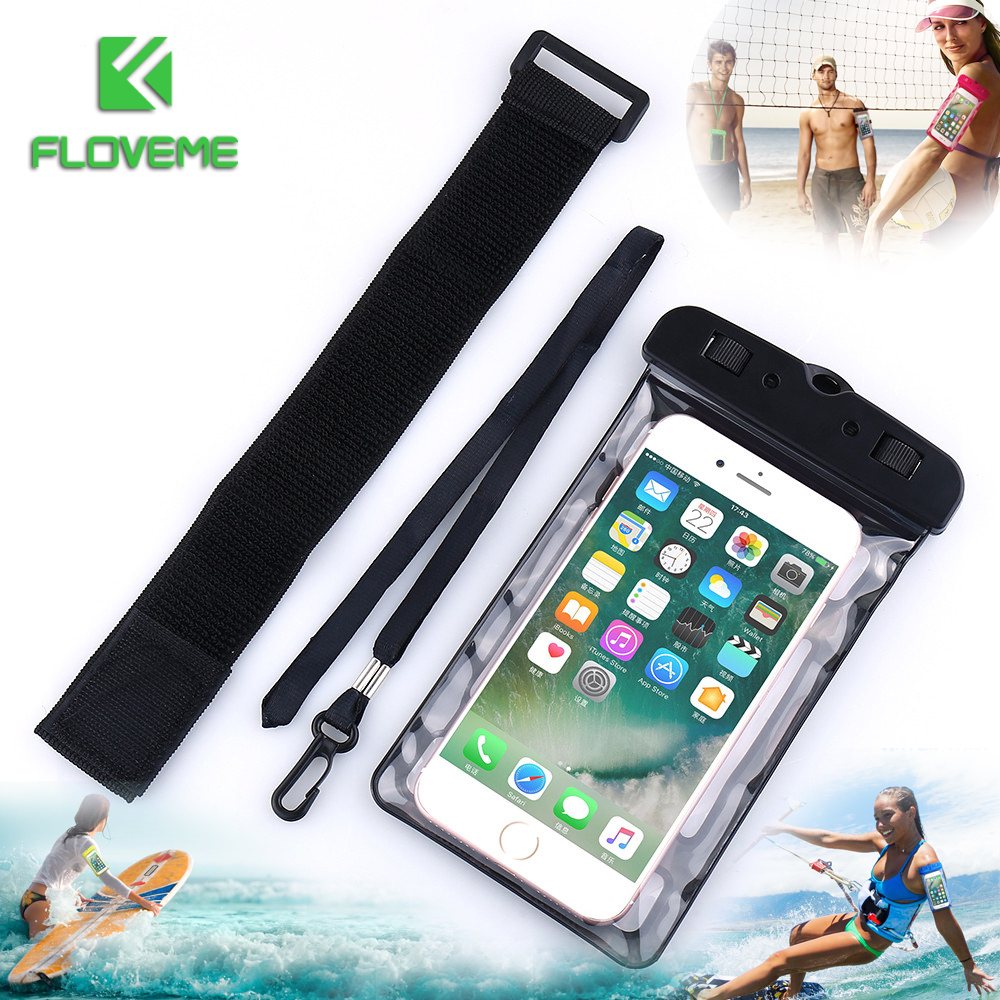 innovative design ccf22 e8160 Universal IPX8 Waterproof Iphone X 8 Plus Swimming Phone Samsung Galaxy S8  Plus Note 8 Phone Pouch Bag