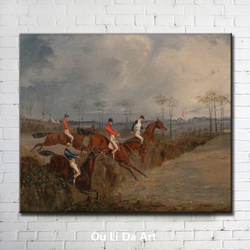 classical court figures earl horse game landscape oil painting canvas printing printed on canvas wall art decoration picture