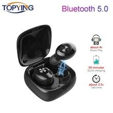 Wireless Bluetooth Earphones 5.0 True Earbuds Headset HIFI Sound Sport 240 minutes for Phone PC
