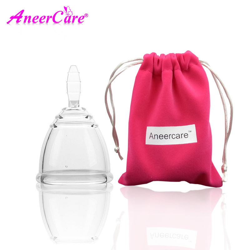купить 2pcs(S+L) Copa menstrual cup coletor menstrual vagina copa menstrual de silicona medica coppetta mestruale lady недорого