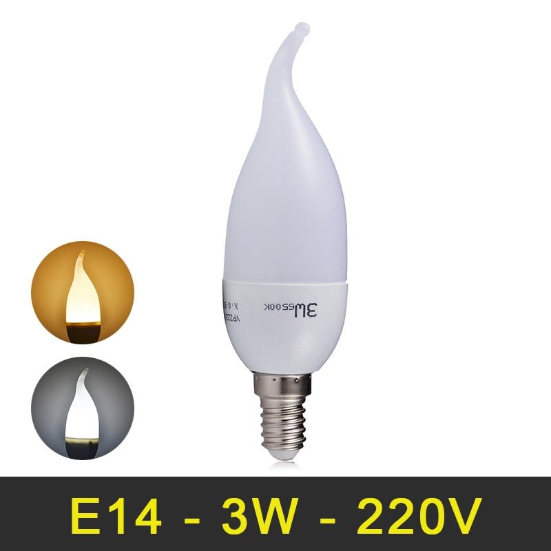 E14 Led Lamp 220V Chandliers LED Candle Bulb 3W 6 LEDs SMD 2835 240V Candle Lamp LED Light Bulbs For Home Deco zweihnder smd 3014 x 30 leds e14 3w candle lamp tail shaped bulb 5500 6000k 280lm