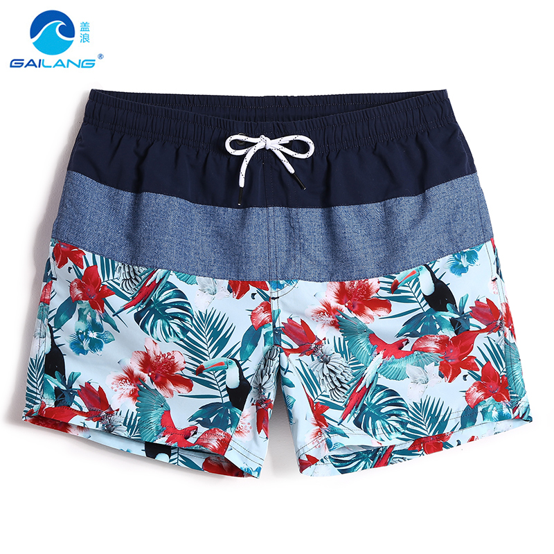 Men's summer flower beach shorts surfing quick dry surfboard liner bathing suit swimwear board shorts plavky sexy mesh