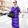 Extra largas cremalleras extra larga chaqueta de abrigo chaqueta de las mujeres de las mujeres abrigo de invierno de las mujeres abajo abrigo de invierno chaqueta de mujer europea 2015