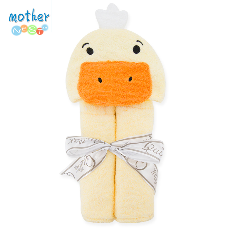 2017 Cartoon Style Hooded Bath Baby Towel Soft Bathing 57 77 cm Terry Cotton Baby Shower