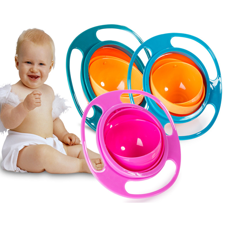 Hot Sale Design Universal Gyro Bowl Practical Design Children Rotary Balance Anti Spill Bowl Novelty 360 Rotate Spill-Proof Bowl