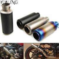 motorcycle modified muffler carbon fiber exhaust pipe For yamaha mt10 mt 07 Aprilia RSV MILLE RSV4 1000 R S1000RR HP4 K42 K46