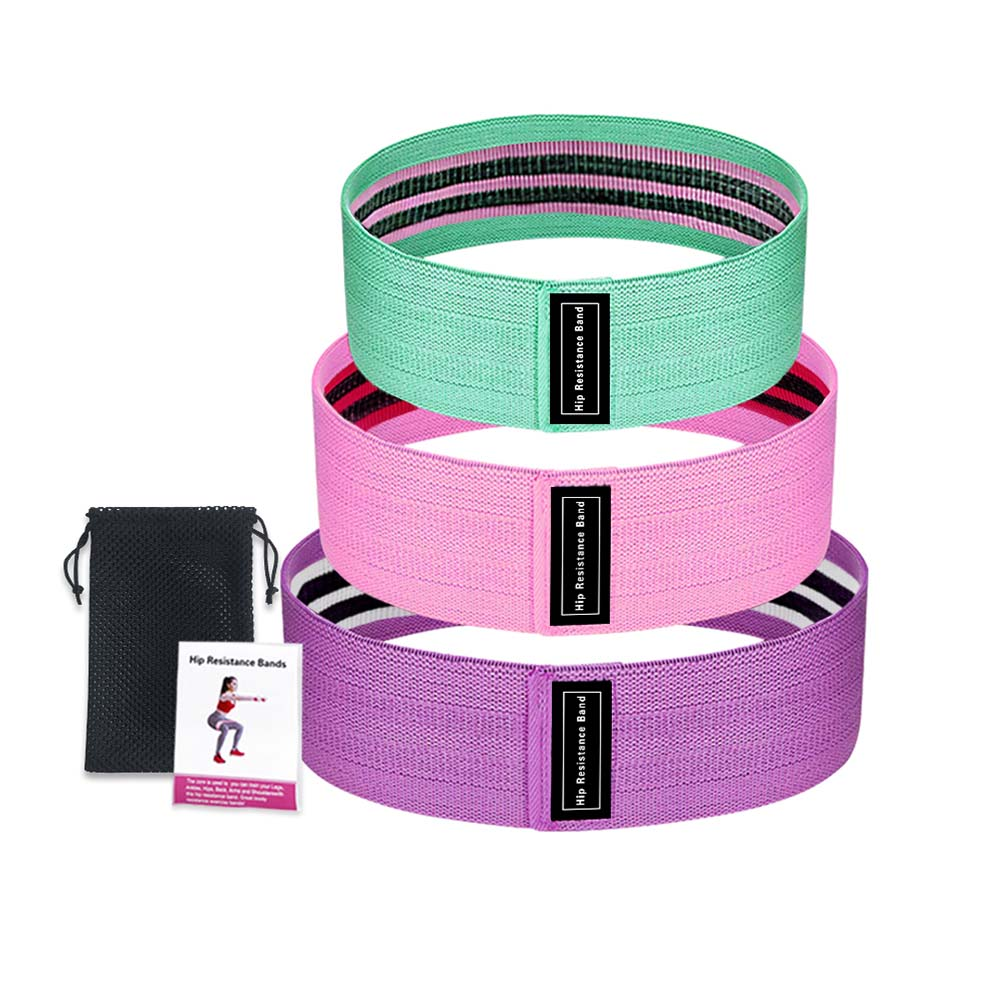 New Durable Hip Circle Band Yoga Anti-slip Gym Fitness Rubber Band Exercises Braided Elastic Band Hip Lifting Resistance Band