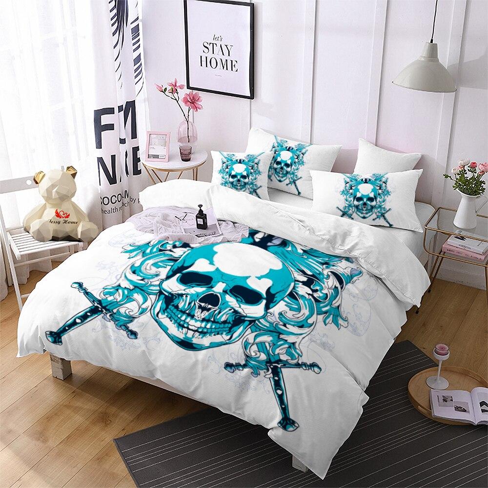 3D Beautiful Mermaid Blue Bedding Set Duvet Cover Comforter Cover Pillow Case