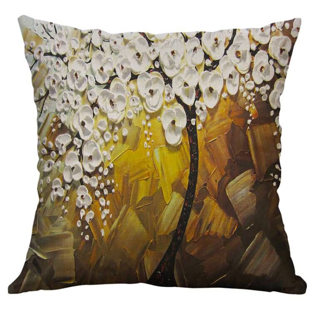 Image 4 - Simple Linen Creative Lovely Pillow Cover Car Pillow Covers Square 45cm*45cm Polyester Pillowcase Home Decorative High Quality-in Cushion Cover from Home & Garden