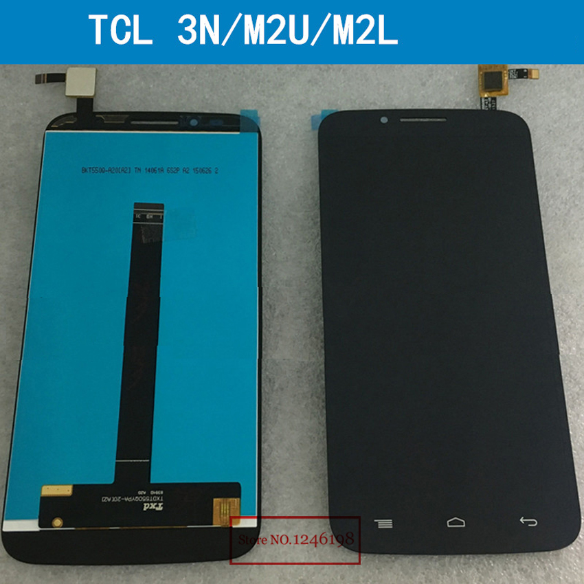 ФОТО Top Quality Black LCD Display Touch Digitizer Screen Assembly For TCL 3N M2M M2U M2L Phone parts free shipping