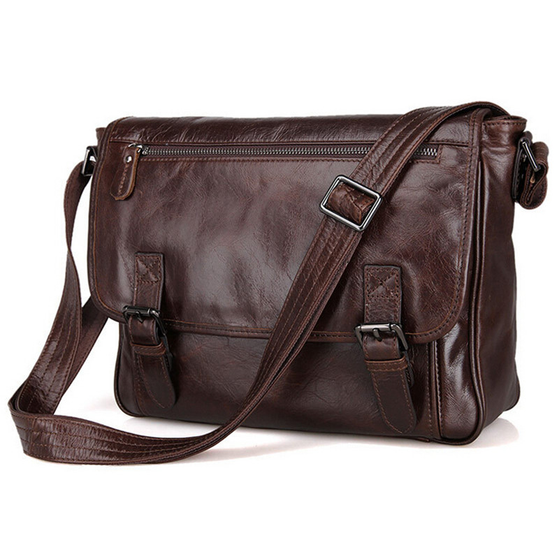 Di modo genuino degli uomini messenger bag in pelle borsa a tracolla pelle bovina a4 borsa da lavoro causale borse con tracolla borseDi modo genuino degli uomini messenger bag in pelle borsa a tracolla pelle bovina a4 borsa da lavoro causale borse con tracolla borse