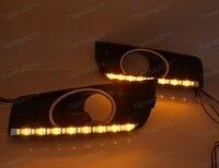 1Pair Car Styling LED DRL Daytime Running Light Cover Fog Lights For Chevrolet Cruze 2011 2014