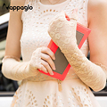 Nappaglo 2016 Rushed Guantes Summer Lace Gloves Eldiven Fashion Women Uv Sunscreen Outdoors Lady Dressing Long Sexy Glove Gift