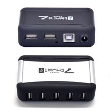 Hub Für PC Laptop USB 2,0 Konverter AC Power Adapter 7 Port High Speed Durable US/EU Stecker