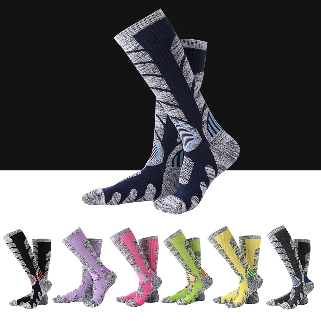 New Winter Warm Men Women Thermal Ski Socks Thick Cotton Sports Snowboard Cycling Skiing Soccer Socks Leg Warmers Long Socks
