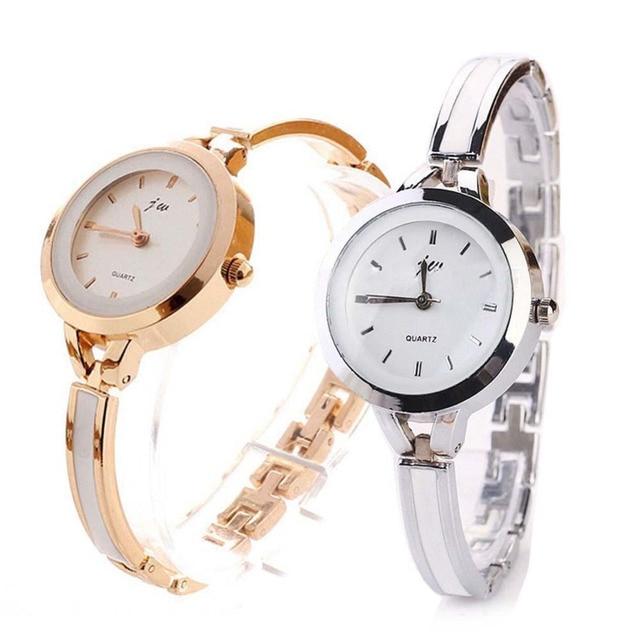 Fashion Women Elegant Bracelet Watch Analog Quartz Thin Stainless Steel Band Ban