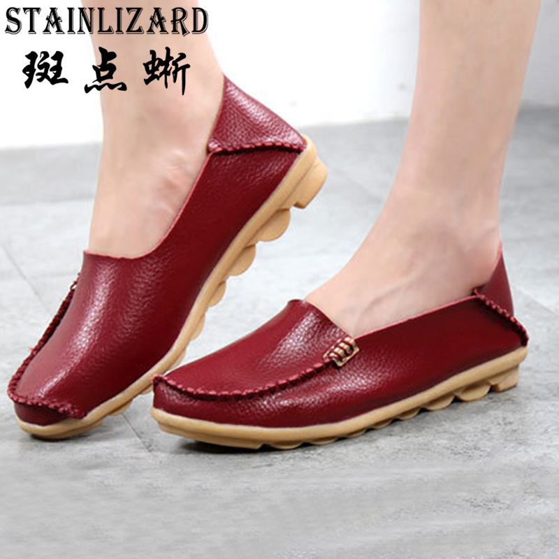 Fashion Women flats Casual Loafers Women leather Flats shoes Summer Slip on Female shoes Comfortable Flat zapatos mujer STT432 vtota women shoes flats lace hollow summer platform shoes fashion flat shoes women loafers zapatos mujer casual shoes a85