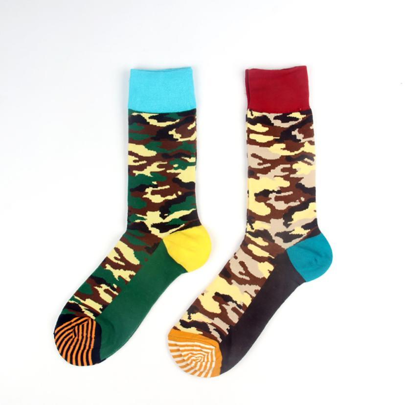 2019 fashion New Autumn Winter  Man Women long socks Happy Sock Camouflage Print Sock Unisex Cotton Socks Gift Stock
