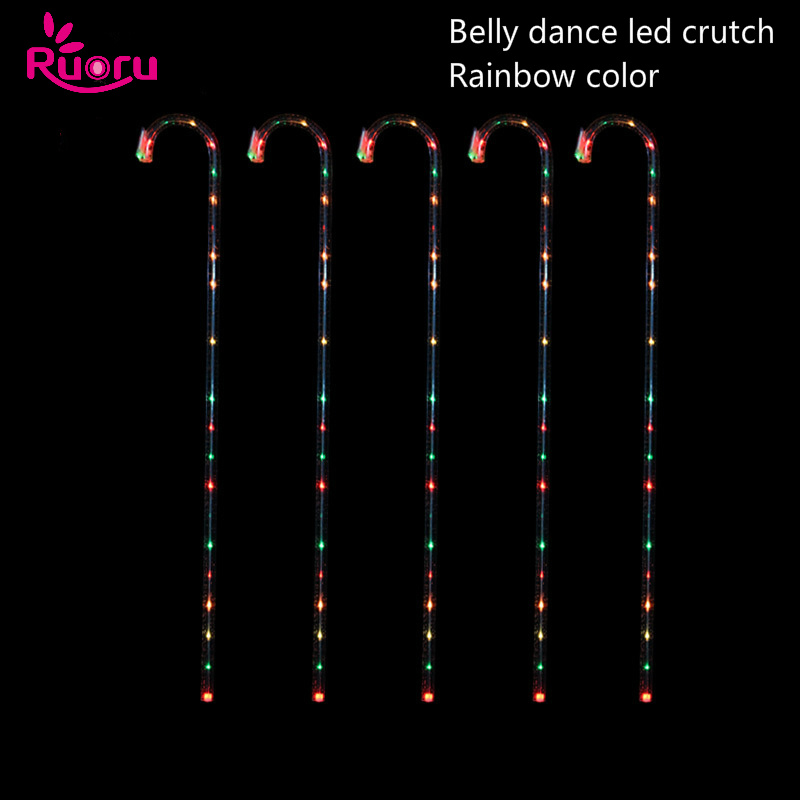 Ruoru Performance-Props Crosier Dance-Accessories Belly-Dance LED Stage Led-Crutches