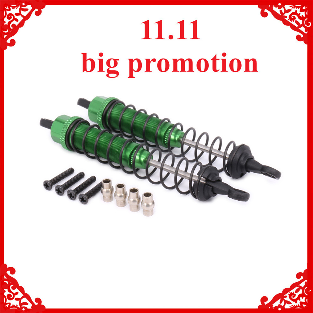 2PCS Alloy Rear Shock Absorber Oil Filled Style Damper For Rc Model Car 1-12 Wltoys 12428 12423 0016 Truck Monster Short Course цены