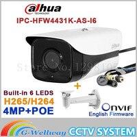 Original Dahua IPC HFW4431K AS I6 4MP POE SD Card Slot Audio Alarm 1 1 Channel