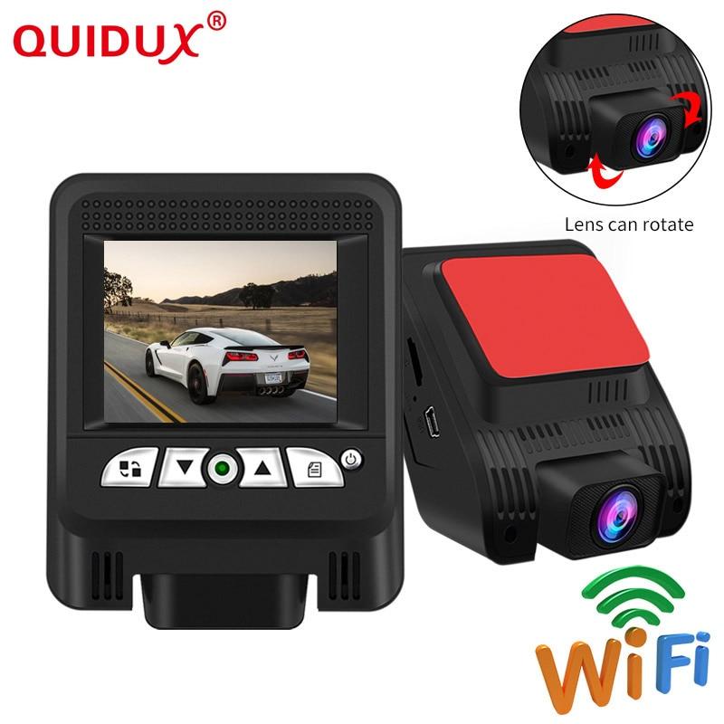 QUIDUX Novatek 96658 Car DVR 2.4 inch Dashcam Sony IMX322 Sensor WiFi Night Vision Full HD 1080P Dash Camera Video Recorder