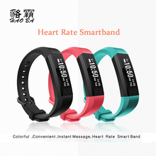 Haoba smart Сердечного ритма Мониторы шагомер Фитнес трекер Смарт Браслет для Android IOS PK ID107 mi Группа 2