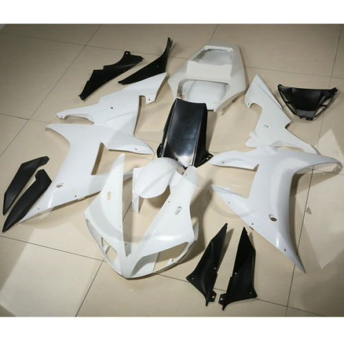 ABS Fairing Cowl Kit Bodywork For YAMAHA YZF R1 YZF-R1 2002 2003 Unpainted White white blue abs fairing bodywork kit for yamaha fzr250 fzr 250 3ln 1990 1992 91