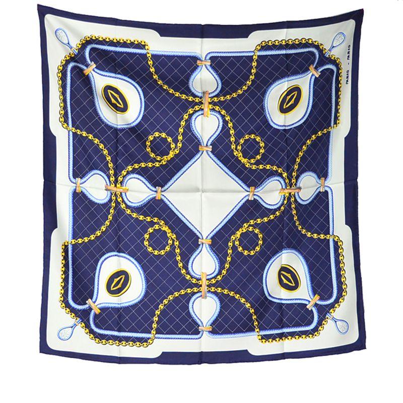 Women's Fashion 100% Silk   Scarf     Wraps   Neckerchief High Style Large Square Silk   Scarves   Shawl Foulard 35