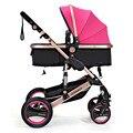 Grande luz carrinho de bebê carrinho de bebê carrinho de bebê DA UE muitas cores em estoque frame dourado