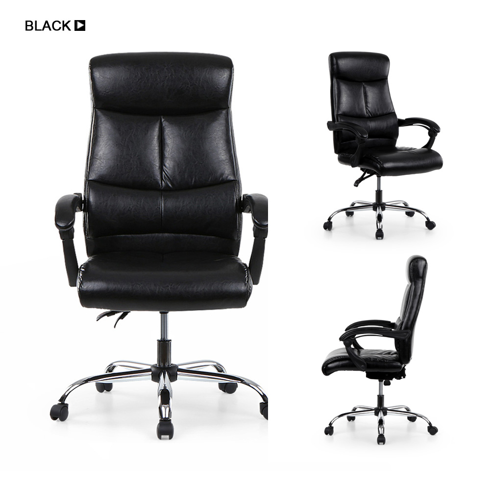 Adjule Ergonomic Pu Leather Executive Office Chair Recliner Luxury High Back Computer Desk Managerial In Chairs From Furniture On