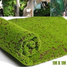 1m Artificial Moss craft Fake Decorative Grass Green Plants For Christmas Simulation Moss Plant DIY Wall Decor garden decoration