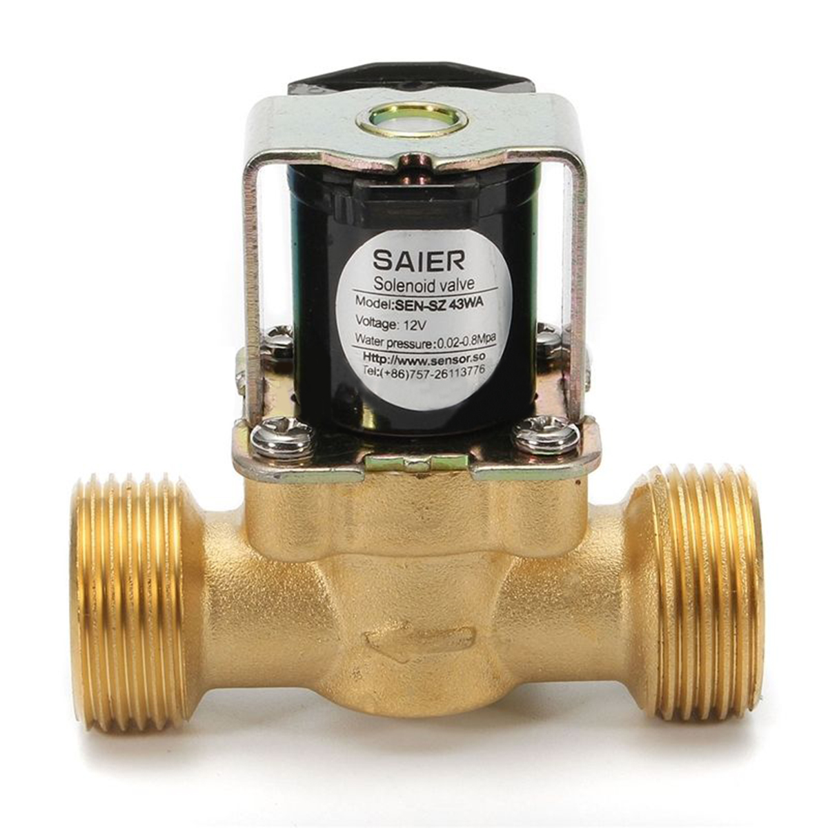 New 3/4 NPSM 12V DC Electric Solenoid Valve VDC Gas Oil Water Air Normally Closed Moisture-proof Slim Brass Diaphragm Valves