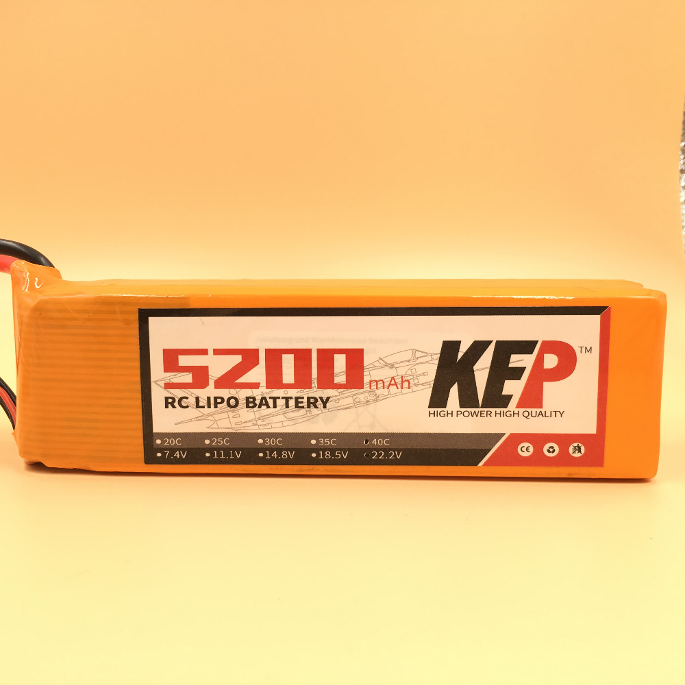 KEP RC Lipo Battery 4S 14.8v 5200mAh 35C For RC Aircraft Helicopter Car Drones Boat Quadcopter Multirotor Li-Polymer Battery 3pcs battery and european regulation charger with 1 cable 3 line for mjx b3 helicopter 7 4v 1800mah 25c aircraft parts