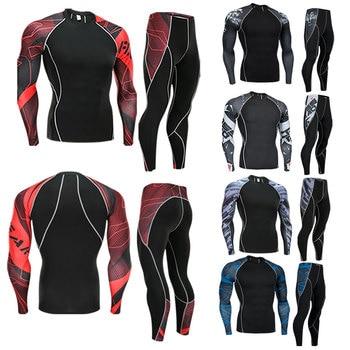 2020 New Winter Men Thermal Underwear Sets Elastic Warm Fleece Long Johns for Men Polartec Breathable