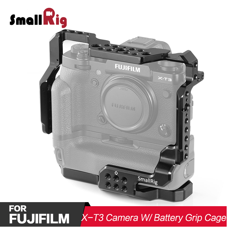 SmallRig DSLR Camera Cage For Fujifilm X-T2 & For Fuji X-T3 Camera With Battery Grip 2229