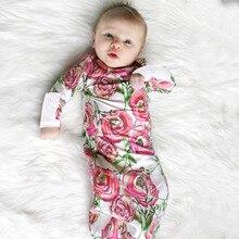 MUQGEW/комплект из 2 предметов для новорожденных девочек и мальчиков; Пижама с цветочным принтом; комплект с платьем; спальный мешок для малышей; Saco de dormir#2