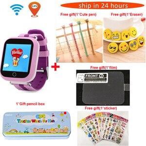 Image 1 - Twox gpsスマート腕時計Q750 Q100 gw200sベビータッチスクリーンとのsosコール位置デバイス子供の安全なpk Q50