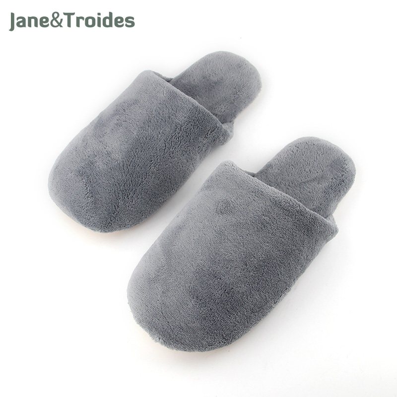 Autumn Home Men's Slippers Fluffy Soft Anti Slipper Pu Sole Flip Flops Indoor Bedroom Short Plush Fashion Man Slippers plush winter slippers indoor animal emoji furry house home with fur flip flops women fluffy rihanna slides fenty shoes