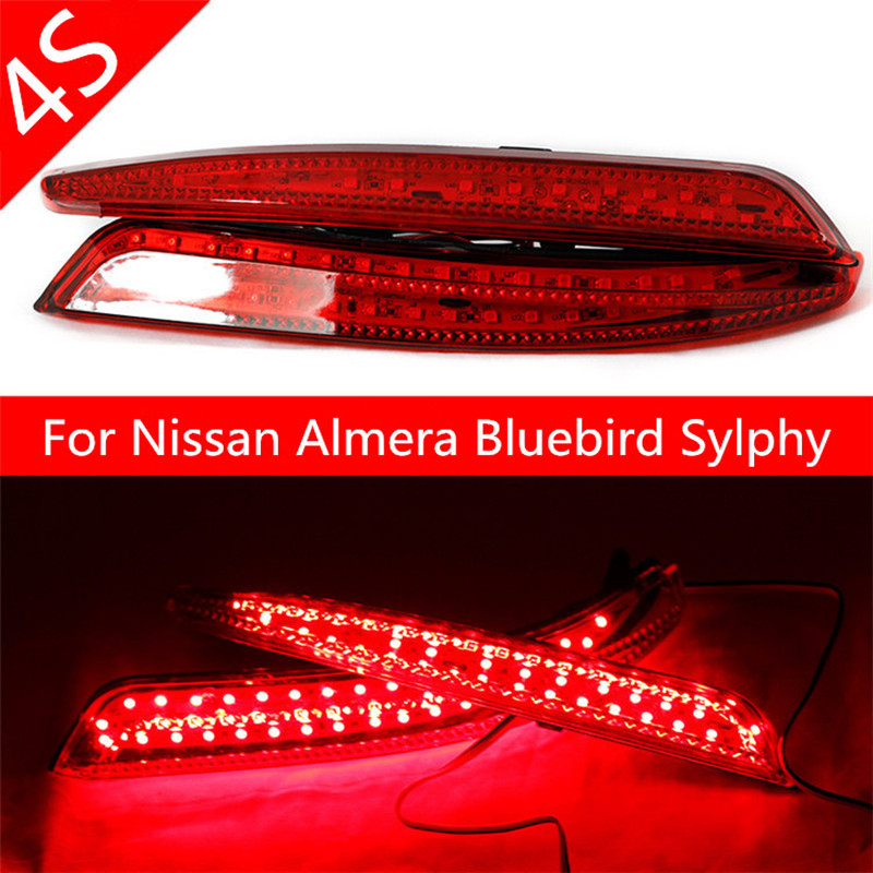 LED Reflector stop Brake light fog lamp For Nissan Almera Bluebird Sylphy Backup Tail Rear Bumper Lamp Quality Assured Wholesale 2006 2011 sylphy daytime light free ship led bluebird fog light 2ps set sylphy bluebird daytime light bluebird