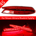 LED Reflector stop Brake light fog lamp For Nissan Almera Bluebird Sylphy Backup Tail Rear Bumper Lamp Quality Assured Wholesale