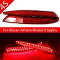 LED Refletor parada Brake lâmpada luz de nevoeiro Para Nissan Almera Bluebird Sylphy Cauda de Backup Rear Bumper Lamp Garantia de Qualidade Por Atacado