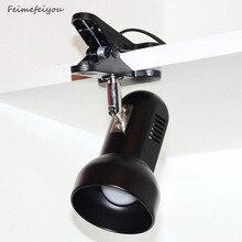Feimefeiyou Adaptor Plug Rotating Portable LED Desk Lamp Clip on Desk Table Book Reading Light for Reading Study Home Emergency