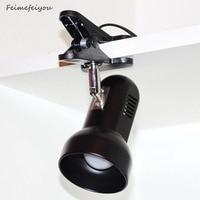NEW ARRIVAL Adaptor Plug Rotating Portable LED Desk Lamp Clip On Desk Table Book Reading Light