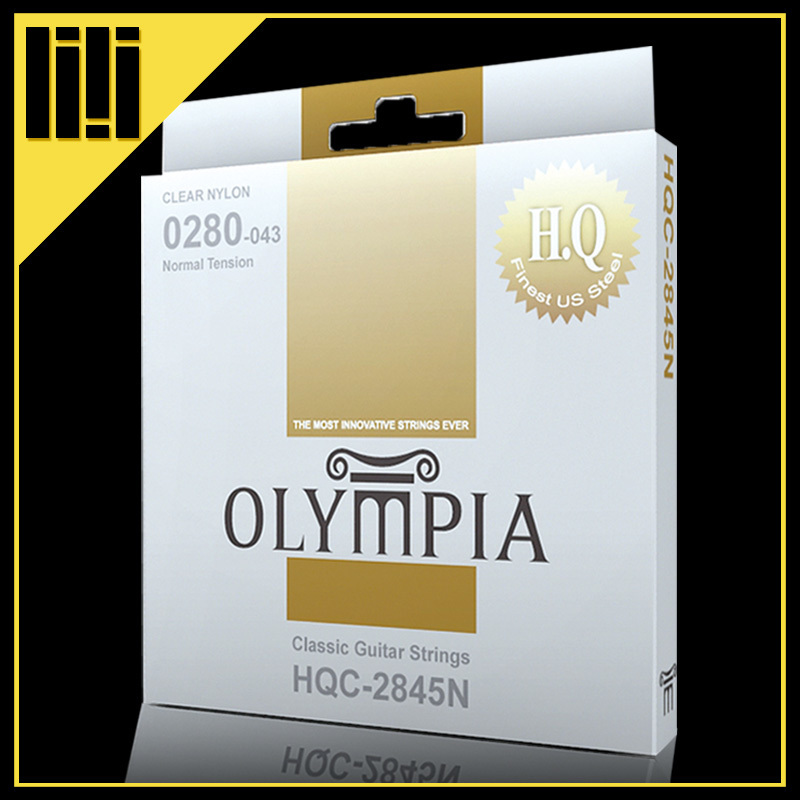 Olympia Brand Classical Guitar String 1 set 6 strings High Quality Clear Nylon Strings Normal Or Hard Tension Original savarez 510 cantiga series alliance cantiga ht classical guitar strings full set 510aj