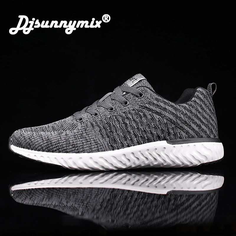 DJSUNNYMIX Running Shoes For Men Sports Shoes Men Fly Weave Athletic Sneakers Men Trail Running Trainer