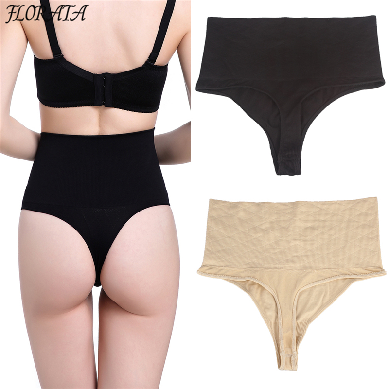 beaa33d15d6 Online Shop Good Quality High Waist Body Shaper Panties Thong G String Tummy  Control Butt Lifter Panties Waist Trainer Underbust Shapewear