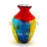 Free Shipping Low Price Wholesale Modern Art Glass Vase