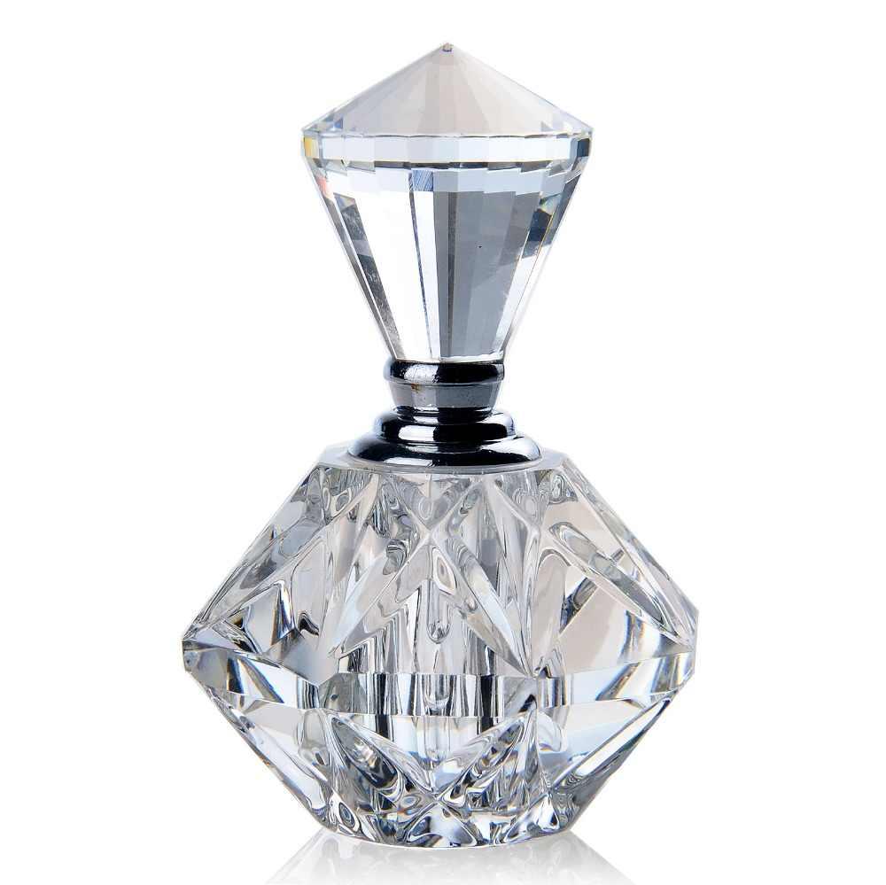 H & D 3 Ml Wanita MINI Crystal Cut Transparant Botol Parfum Kaca Botol Refillable Hadiah Kosong Botol Parfum Isi Ulang